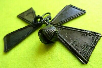 Viking Bronze Pendant with 4 Lamellas&Jingle Bell