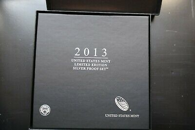 2013 US Mint LIMITED EDITION 8 Coin SILVER PROOF SET In Case With COA! Sealed!