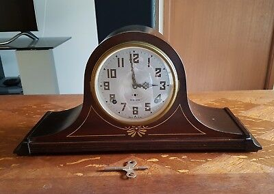 ANTIQUE PLYMOUTH MANTEL CLOCK - Made in USA - Circa 1930s