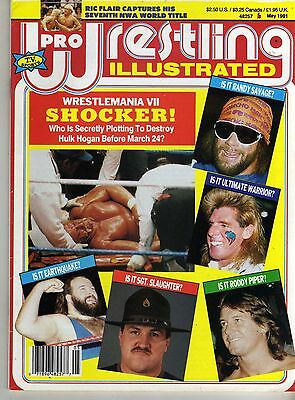 Pro Wrestling Illustrated May 1991 Roddy Piper Ultimate Warrior Randy Savage Wwf