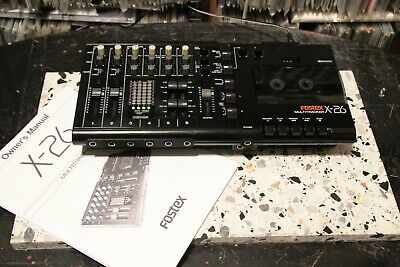 FOSTEX X-26 4 track cassette deck tape recorder VGC GWO checked, clened (Unit1)