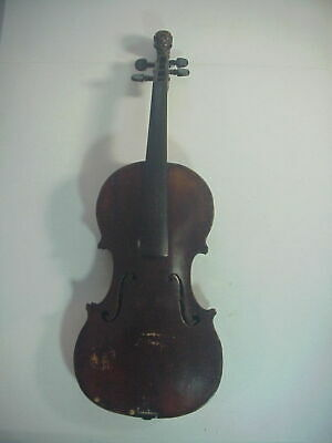MITTENWALD Antique 19th CENTURY VIOLIN with CARVED LION PEG HEAD