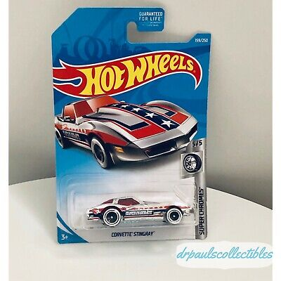 2019 Hot Wheels Treasure Hunt CORVETTE STINGRAY Super Chromes from G Case