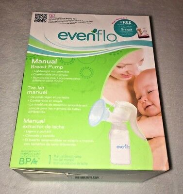 Evenflo Manual Breast Pump Portable Lightweight Brand New in Factory Sealed Box