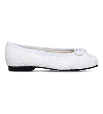 BNIB French Sole Henrietta White Ballet (Princess) Pumps UK 3/Eu36 RRP £100