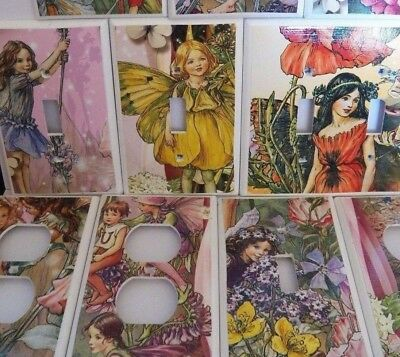 GARDEN FAIRIES ~ Switchplate Cover Light Switch Electrical Outlet Cover Fairy