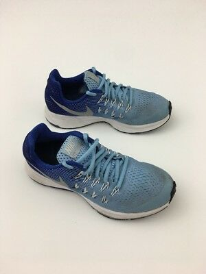 official photos b8e66 822ed Nike Zoom Pegasus 33 GS Blue Kids Running Shoes Sneakers 834317-301 4Y
