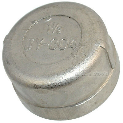 """1-1/2"""" Cap Female Stainless Steel SS304 Threaded Pipe Fitting NPT Stainless Caps"""