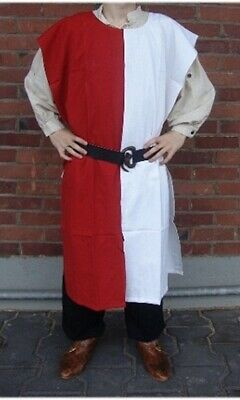 MEDIEVAL Knight Tunic 2 Colors Surcoat Sleeveless Renaissance LARP SCA