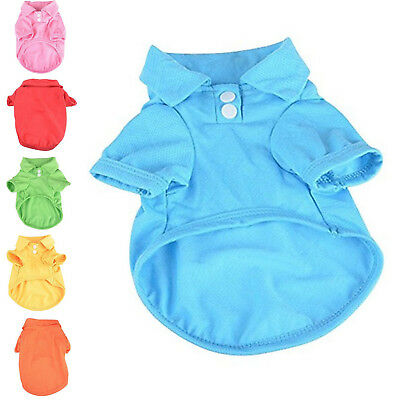 Polo Shirt Candy Color Style Apparel Cotton T-shirt Clothes for Puppy Small Dog