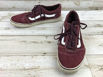 631d5d0a68 Vans Old Skool Burgundy Canvas Athletic Sneakers Mens Size 9 Lace-up Skate  Shoes