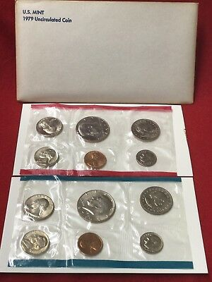 1979 US Mint Uncirculated 10 Coin Set P And D