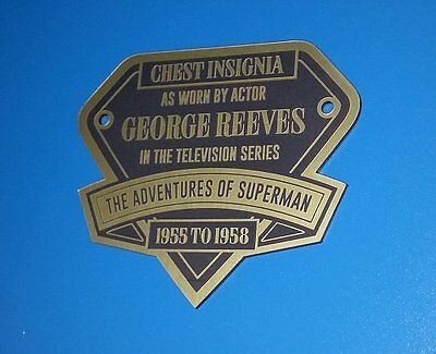 Custom George Reeves Adventures Of Superman Color Chest Insignia Display Placard