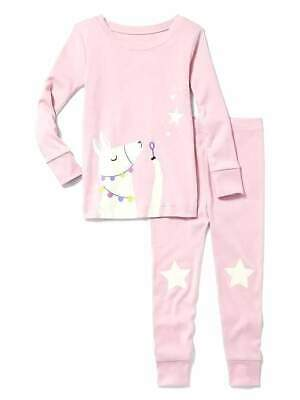 NWT GIRLS OLD NAVY PAJAMAS PJS SIZE 2T 5T LLAMA - 2 PIECE SET FALL WINTER stars