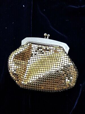 Vintage Park Lane Gold Mesh Coin Purse