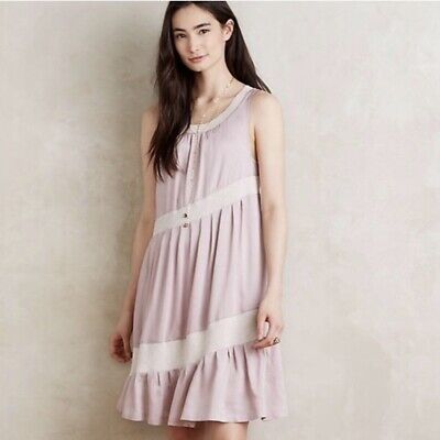 5094f175a7780 Anthropologie Maeve Women's Size XS Pink Sleeveless Wildell Swing Shift  Dress