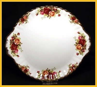 Royal Albert Old Country Roses 10 1/4 Inch Cake Plates - 1st Quality - Very Good
