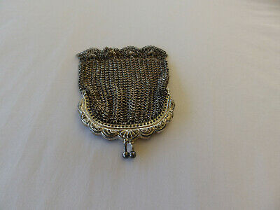 Vintage, Antique SILVER? Ladies MESH / METAL COIN PURSE - Deceased Estate