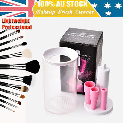 white Brush Makeup Cleaner Electric Cosmetic Wash Clean & Dry Washing Tool Set
