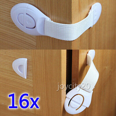 16x Adhesive Baby Child Kids Safety Lock For Door Drawer Cupboard Cabinet OZ