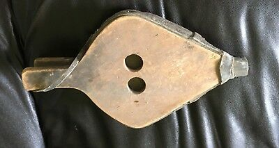Early Primitive Fireplace Bellows Wood Leather