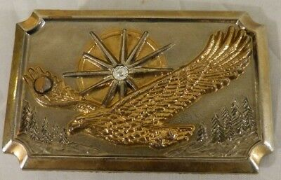 Vintage Brass Soaring Eagle Belt Buckle