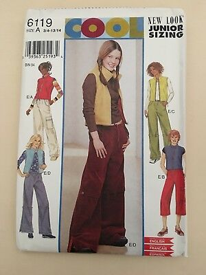 Girls Dressmaking Pattern -  New Look - Gilet And Trouser