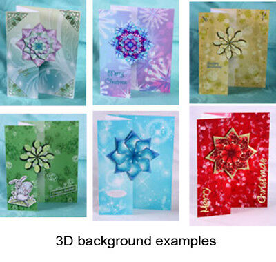 CARD MAKING DVDs - BACKGROUNDS & 3D BACKGROUNDS - choice of 8 titles