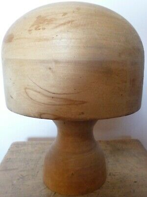 Antique Hat Maker's Block of Solid Wood - Size 22