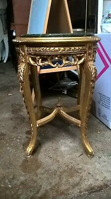 Pretty gilt with marble top occasional table