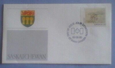 First day of issue, 1982 Canada, Honoring  the Province of Saskatchewan