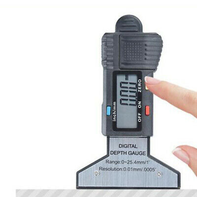 Tire Depth Tester Meter Measure Stainless Steel w/Switchable Measurement