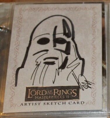 Lotr Lord Of Rings 1/1 Sketch Card Ryan Waterhouse Topps Masterpieces Ii R2