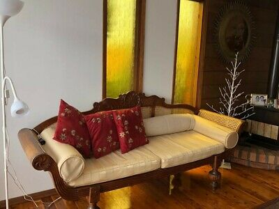 Antique Sri Lankan Chaise Sofa
