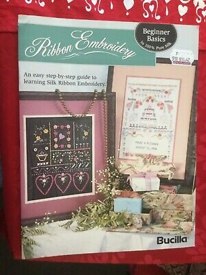 Bucilla Ribbon Embroidery Pattern Booklet for Beginners
