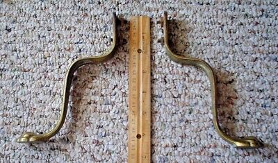 "Antique Claw Foot Solid Brass Legs Set Of 2 (6 1/2"" Tall X 1"" Wide)"