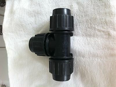 ELYSEE Compression Fittings For HDPE Water Pipe.Size Range 20MX20MX20M Equal Tee