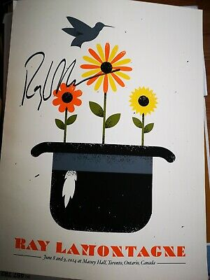 "RAY LAMONTAGNE SIGNED POSTER 24""x 18"""