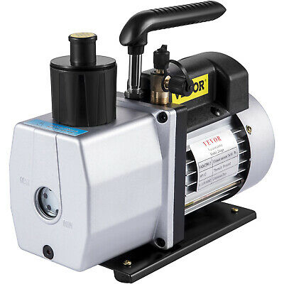 "5CFM Vacuum Pump 2-Stage 1/2 Hp Rotary 40Miron 1/2""ACME inlet Recharging 1/2HP"
