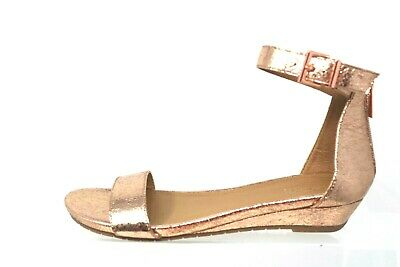 07f6823f70 Kenneth Cole Reaction Great Viber Rose Gold Metallic Wedge Sandal Womens  Size 8