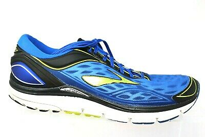 the best attitude 2afa2 94710 BROOKS TRANSCEND 3 Blue Black Lime Running Athletic Sneaker Shoes Mens Size  15