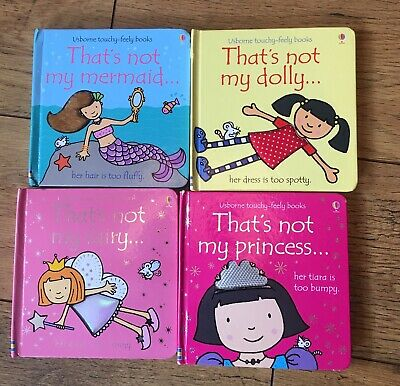 Usbourne Thats Not My Books Bundle Dolly Princess Mermaid Fairy Touchy Feely