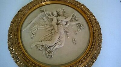 Large Stone Angel Plaque - framed