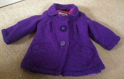 Ted Baker Baby Girls  Coat Age 6-9 Months Beautiful Purple
