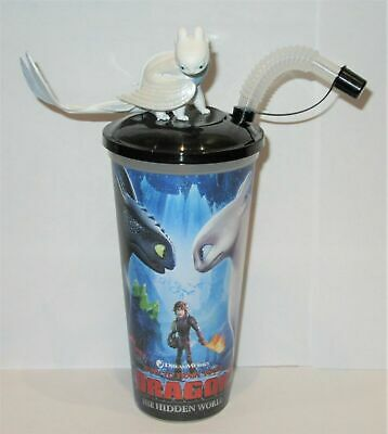 How To Train Your Dragon 3 The Hidden World Lightfury Cinema Drinks Cup & Topper