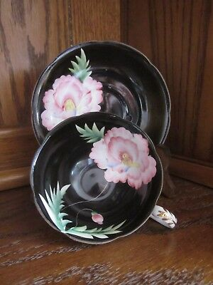Shafford Hand Decorated Fine Bone China Teacup and Saucer / Japan