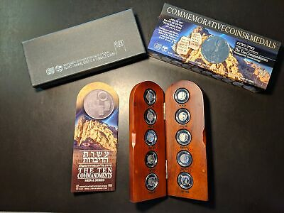 Israel The Ten Commandments Medal Series Platinum Set #019 / 180