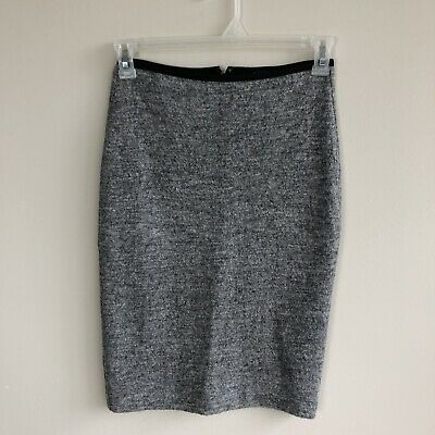 ff9e813623 NWT MADEWELL COLUMN side-slit pencil skirt black stretchy Size S ...