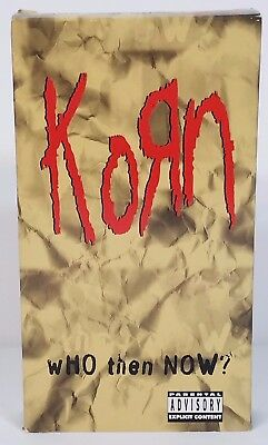 Korn Who Then Now? rock metal band documentary VHS movie cassette tape 1997