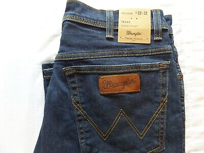 "/""Classic Wrangler Regular Relaxed Fit Texas Stretch Vintage Denim Jeans For Men/"""